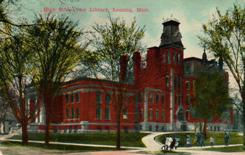 Lansing, MI Carnegie library and high school