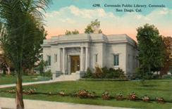 Coronado, CA public library, captioned as San Diego.