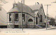 Stone library building, Padanaram, MA