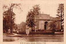 E.C. Scranton Library, Madison, CT in sepia