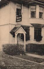 Rowayton, CT public library in repurposed residence
