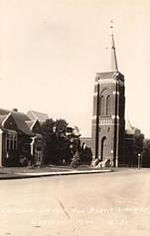 Graceville, MN, with Carnegie library at left.