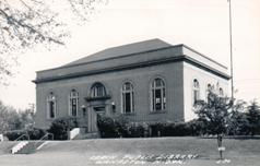Leach Public Library of Wahpeton, ND. Appears to date to ca. 1930