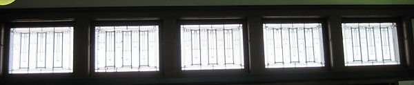 2016 photograph of decorative windows, copyright Judy Aulik
