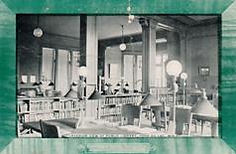 Interior of reading room in the Fond du Lac, WI Carnegie library, no longer extant.