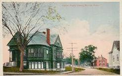 Tudor-style Aldrich Public Library, Moosup, CT
