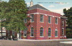 Gadsden, Alabama's Carnegie library, demolished due to leaking roof.