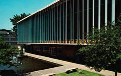 Mid-century modern addition to the Cossitt Library, Memphis, TN
