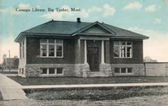Big Timber, MT Canegie library, Type A plan