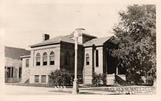 Marshall, MN Carnegie Classical Revival library.