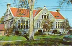 Lithgow Library of Augusta, ME, on chrome postcard