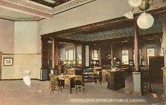 Interior of Lorain, OH Carnegie library
