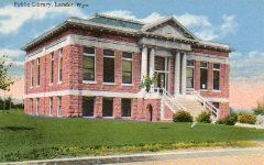 Lander, WY Carnegie library in its original configuration.