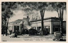 Warren, PA public library with the Conestoga Club