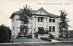 C.R. Childs image of Mt. Carroll Carnegie library