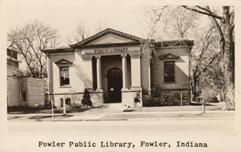Fowler, IN Carnegie library