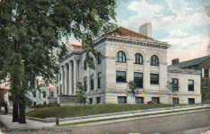 End view of Eau Claire's Carnegie library building. Extant.