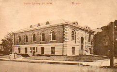 Fort Scott, KS Carnegie library, corner view