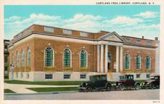 1929 image of Cortland, NY's public library.