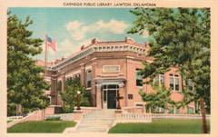 Lawton, OK Carnegie library, on corner lot
