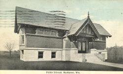 Tudor-style Kaukauna, WI Carnegie library