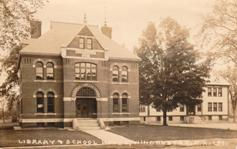 Conant Library, Winchester, NH on a photo postcard