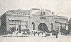 Municipal building which housed the Ramona Public Library. Reprint postcard.