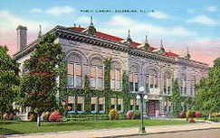 Galesburg, IL Carnegie library. Demolished.