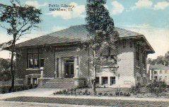 Prairie-style Carnegie Library in Belvidere, Illinois.