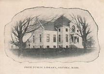 Enlargement of the vignette of the Oxford, MA public library