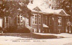 Galva, IL Carnegie library, post addition