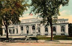 Washington DC Carnegie library in tinted image