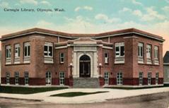 Olympia, WA Carnegie library on a corner lot.