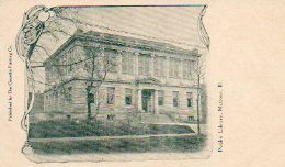 Mattoon, IL Carnegie library on on early postcard.