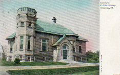 Castellated Carnegie library, Greenup Twp., IL
