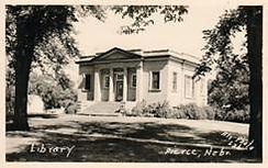 Pierce, NE's neoclassical Carnegie Library