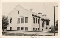 Corning, CA Carnegie library, Real Photo Postcard.