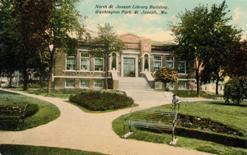 Caption: North St. Joseph Library Building, Washington Park, St. Joseph, MO