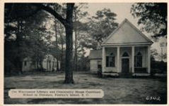 Waccamaw Library and Community House of Pawley's Island, SC. Border cropped.