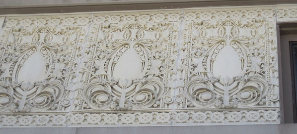 Terra cotta frieze