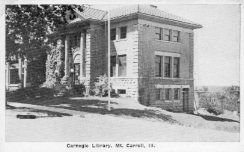 Mount Carroll, IL Canegie library