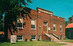 Chrome postcard of Corry, PA's Carnegie building.