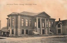 ca. 1910 postcard of the Aberdeen, WA Carnegie library.