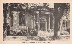 Bluffton, IN Carnegie library, image from Natonal Press