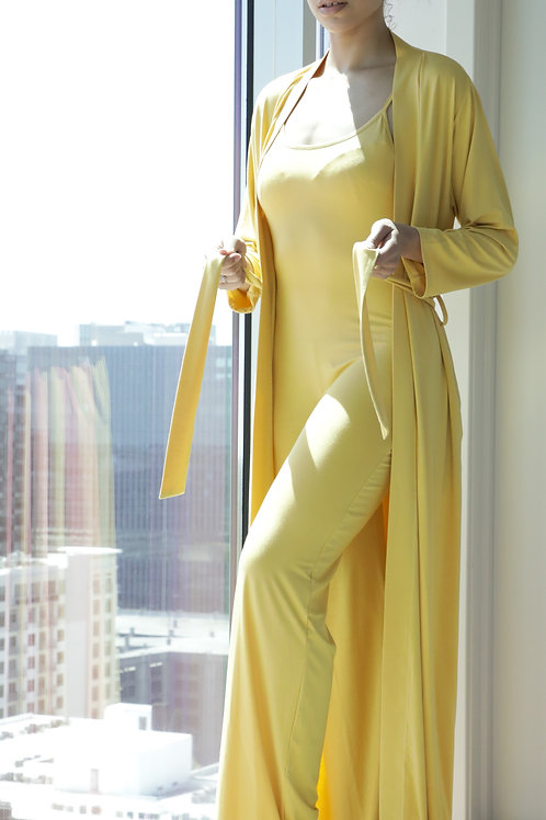 Bela Comfort Set: Strappy Two-piece Jumpsuit & Robe