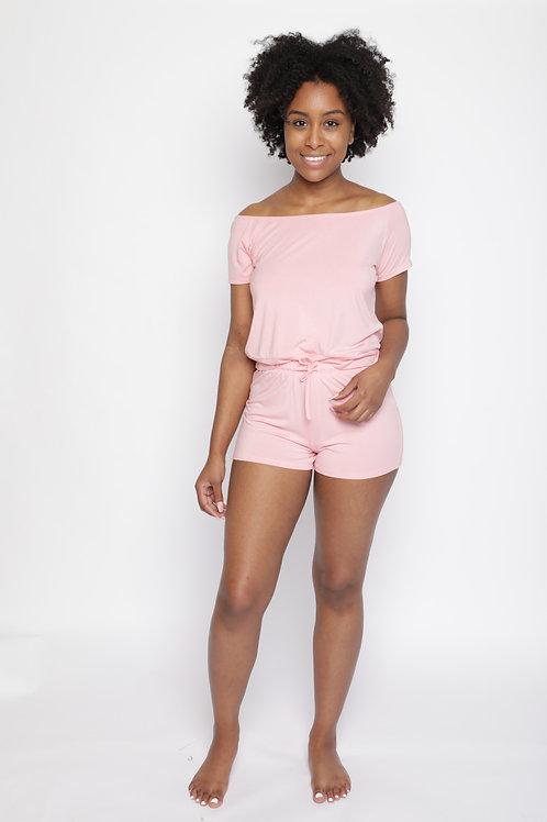 Bela Comfort Set: Off-Shoulder Shorts