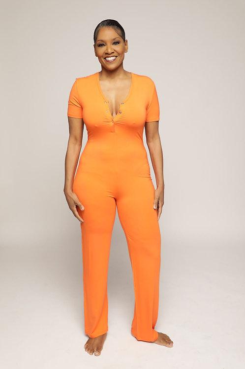 Bela Loungewear: Short Sleeve Jumpsuit
