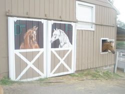 """Double J Riding Club"" mural"