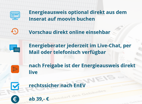 Demnächst verfügbar: Energieausweis online erstellen und direkt herunterladen