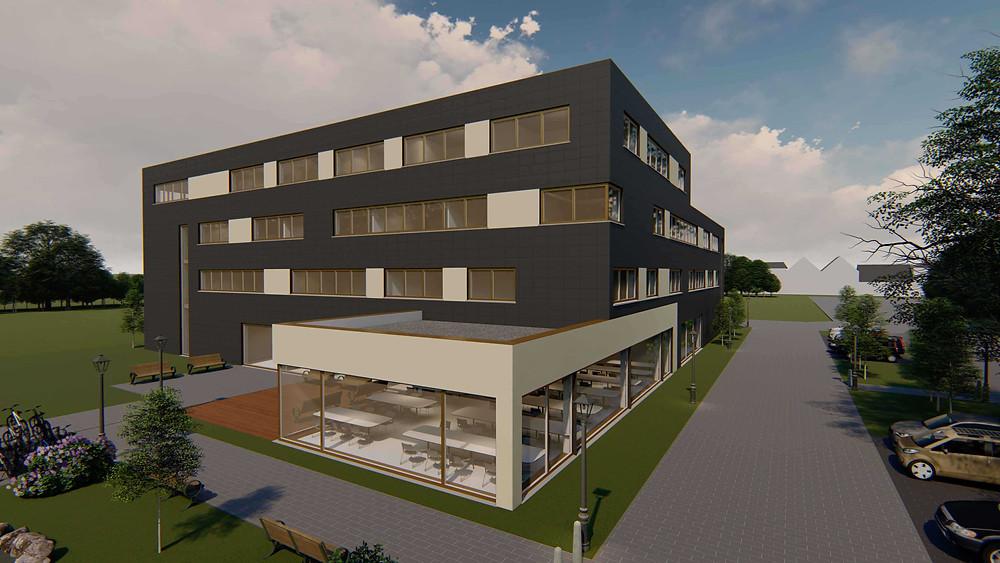 Die neue Firmenzentrale von Aucotec in Isernhagen bei Hannover.